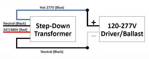 step-down transformer - 375va maximum power