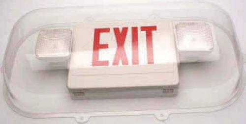 Shield Guard for Exit & Emergency Light Combo Units