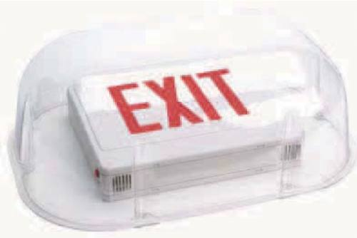 Shield Guard for Exit Signs or Emergency Lighting