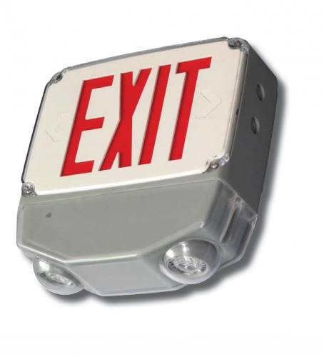 Wet Location All LED Exit & Emergency Combo