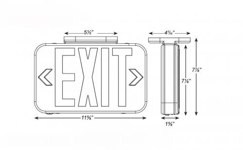 compact led exit sign - 04-xrw-sl - led exit signs