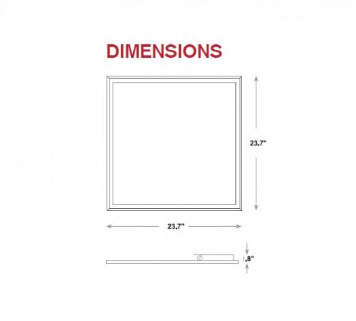 Led Color Temperature Changing Flat Panel Light - 2x2 - 40W