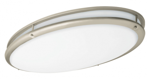 LED Oval Ringed Decorative Ceiling Light - 34W - 2,900 Lumens - Energy Star Rated - ETL Listed - 3K/4K - 120-277V