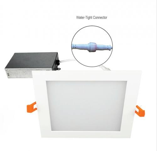 6 Inch LED Flat Square Panel - 16W - 1,030 Lumens - Energy Star Rated - UL Listed - Dimmable - 3K/4K/5K - 120V