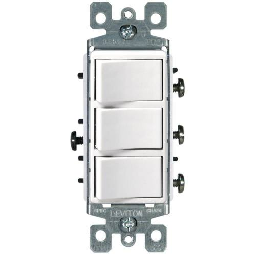 15 AMP 3-Rocker Decora Switch
