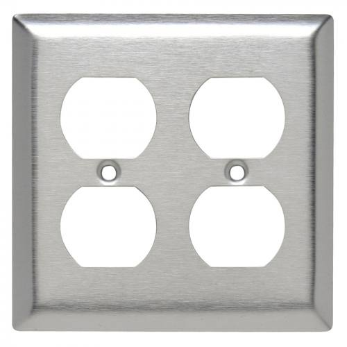 2 Gang Stainless Steel Plate