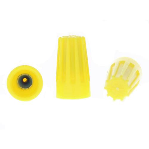 Yellow Barreled Wire Connector - 500 Count