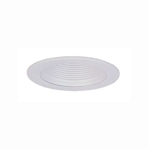 Recessed Trim - White Stepped Baffle 150W/R40 Trim - 6 Inch