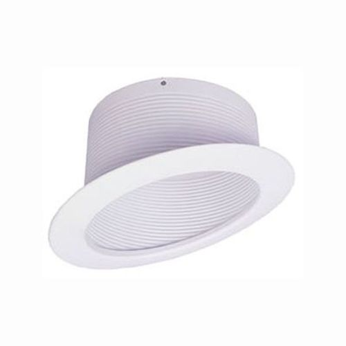 recessed trim sloped stepped white baffle 6 inch