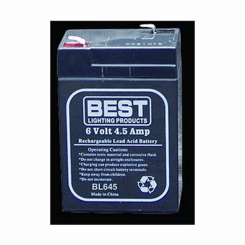 6.0 Volt 4.5 Ah, Sealed Lead-Acid Battery