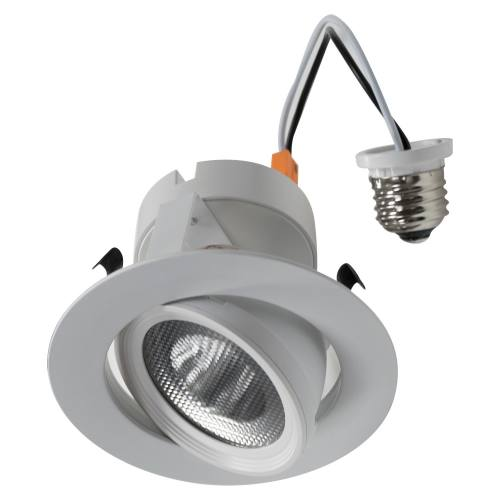 4 Inch LED Gimbal Recessed Retrofit Trim - 10W - Up to 750 Lumens - Energy Star Rated - ETL Listed - Dimmable - 27K/3K/4K - 120V