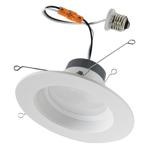 5/6 Inch LED Recessed Retrofit Trim - 12W - Up to 860 Lumens - Energy Star Rated - ETL Listed - Dimmable - 27K/3K/4K/5K - 120V