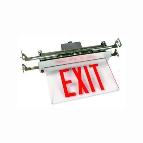 Recessed Edge Lit Exit Sign