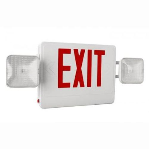 Exit / Emergency Combo - Red/ White