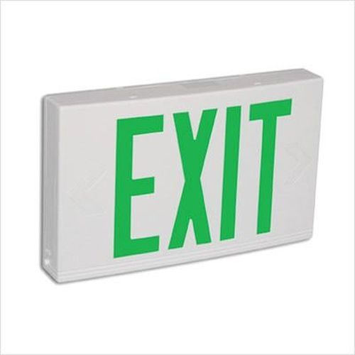 LED Thermoplastic Exit Sign - Green/White Self Diagnostic