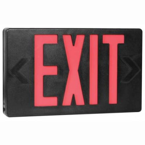 LED Thermoplastic Exit Sign - Red/Black-AC Only