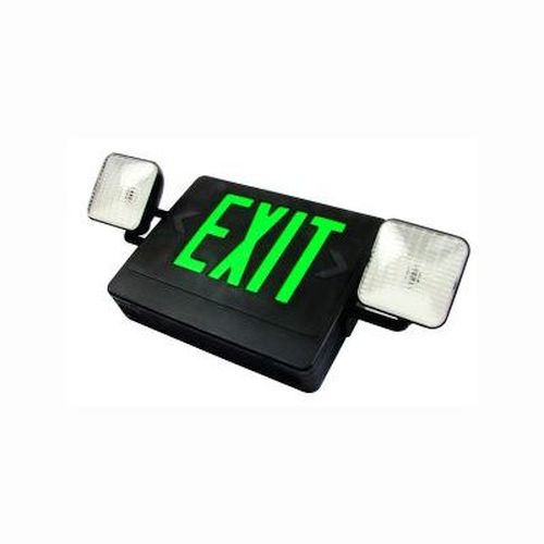 Exit / Emergency Combo- Remote Capable- Green/ Black