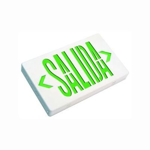 LED Thermoplastic Salida Sign - Green/White AC Only