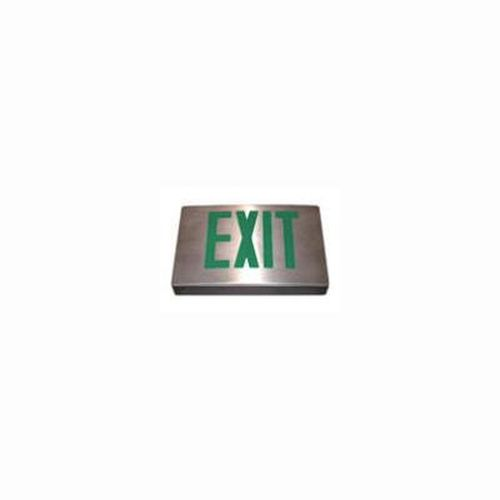 Die Cast Aluminum Exit Sign - Green Single Face - Aluminum - Self Diagnostic