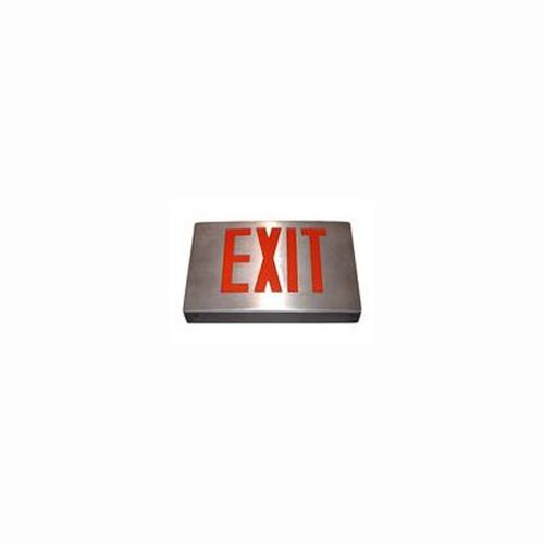 New York Approved LED Cast Aluminum Exit Sign Red Letter Black Housing Alum Face Self Diagnostic