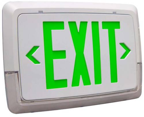 LOW LEVEL ALL LED EXIT & EMERGENCY THERMOPLASTIC COMBO