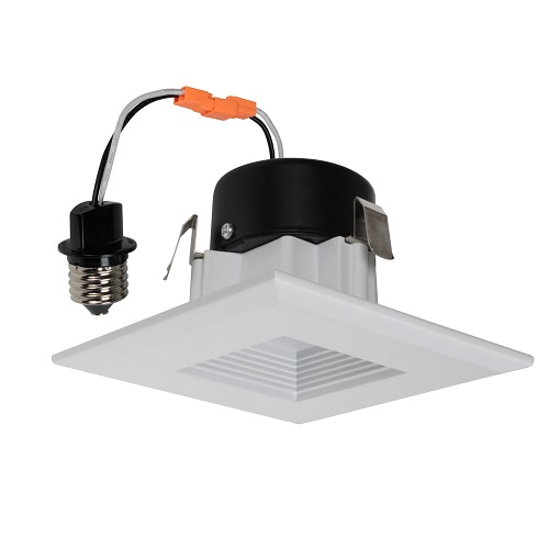 3 Inch LED Square Baffle Retrofit Kit - 9W - 470 Lumens - Energy Star Rated - UL Listed - 3K - 120V
