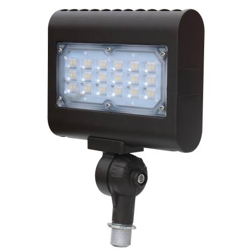 Multi-Purpose LED Area Light - 15W - Up to 1,663 Lumens - Knuckle or Yoke Mount Option - DLC Standard - UL Listed - 3K/4K/5K - 120-277V