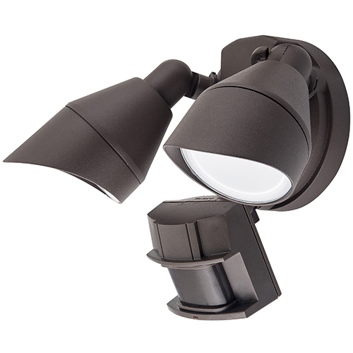 Double Head LED Outdoor Security Lights - 25W - Up to 2,089 Lumens - 4K/5K - 100-277V