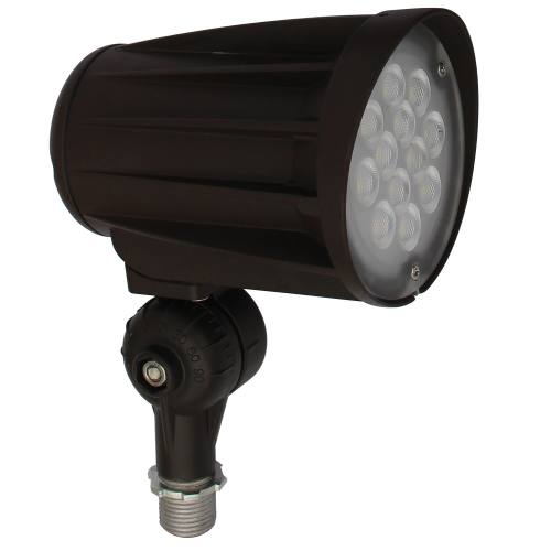 LED Security/Landscape/Flood Light - 28W - Up to 3,200 Lumens - Knuckle Mount Included - 30 Degree Beam Angle - DLC Standard - UL Listed - 3K/5K - 100-277V