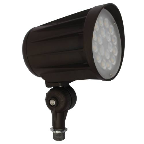 LED Security/Landscape/Flood Light - 42W - Up to 4,800 Lumens - Knuckle Mount Included - 60 Degree Beam Angle - DLC Standard - UL Listed - 3K/5K - 100-277V