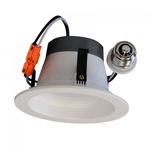 Version 2 - 4 Inch Recessed LED Retrofit Trim - 8W - Up to 610 Lumens - Energy Star Rated - ETL Listed - Dimmable - 27K/3K/4K/5K - 120V
