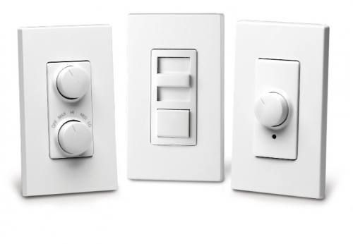 Leviton Fluorescent & LED Dimmer - 3 Color Faceplates