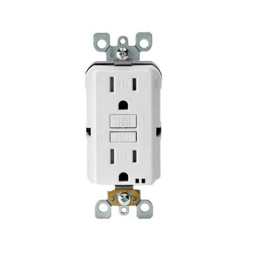 Leviton 15 Amp White Weather Resistant GFCI- No Plate