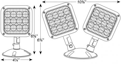 led outdoor remote heads - 1 or 2 head - 04-rhled