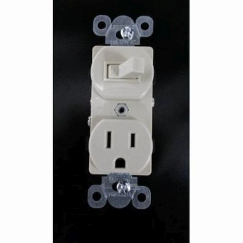 Toggle Switch- 15 Amp  / Receptacle NEMA 5-15R