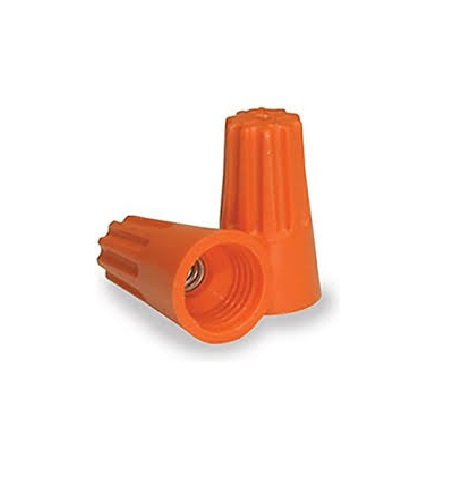 Wire Connectors - 500pc Orange Barreled / P3