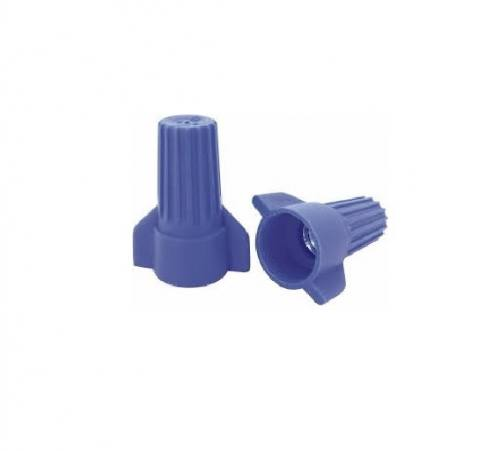 Wire Connector - 100pc Big Blue Winged / P17