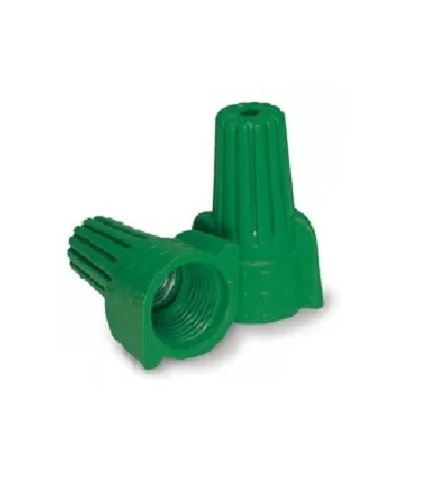 Wire Connector - 500pc  Green Grounding / Winged