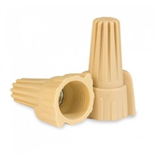 Wire Connector - 500pc Tan Winged /P12