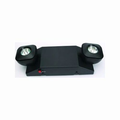 Thermoplastic Emergency Light MR-16 - 2 Head Black With Remote Head Capacity