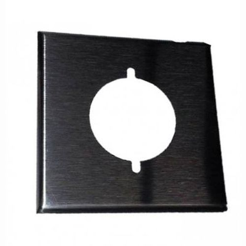 Power Outlet Plate - 2 Gang/ Oversized/ Stainless Steel