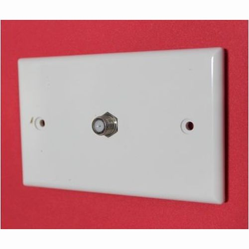 Plastic Wallplate - 1 Gang, Type F Connector